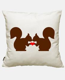 amour de coeur d'écureuil