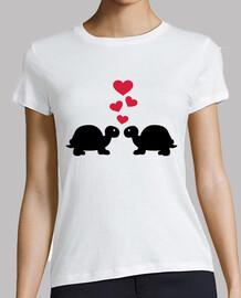 amour de tortue coeurs rouges