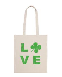 amour irlandais carré vert