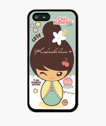 Coque iPhone amour kokeshi