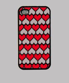 amour pixel rouge-gris