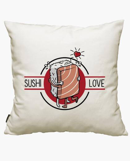 Housse de coussin amour sushi