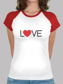 amour, t-shirt manches courtes femme