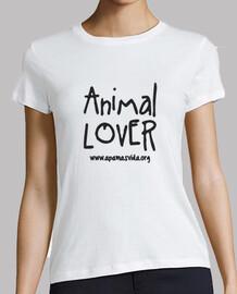 amoureux des animaux  femme  de lettre noire