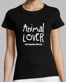 amoureux des animaux amende d'impression blanche