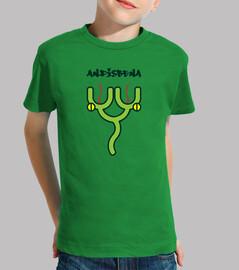 amphibie - enfant, manche courte, vert