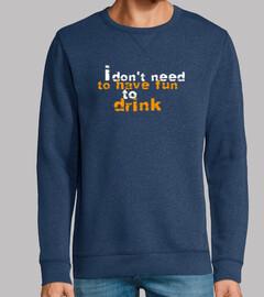 amusant de boire un verre