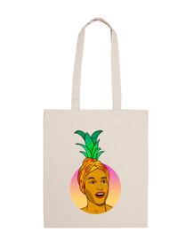 ananas - borsa in tela cotone 100%