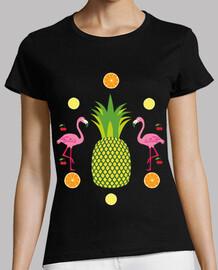 ananas / flamant rose / cerise / agrumes / festival