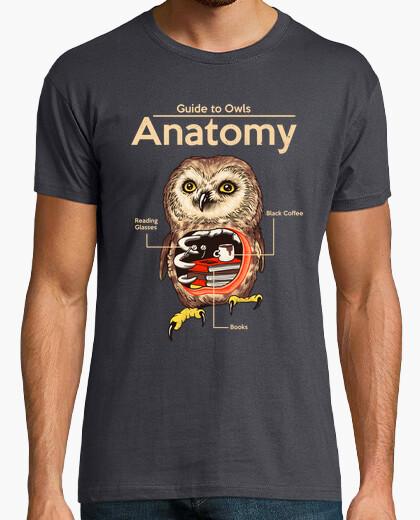Camiseta anatomía de búhos camisa para hombre