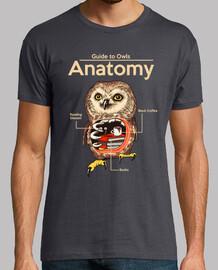 anatomía de búhos camisa para hombre