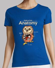 anatomía de búhos camisa para mujer