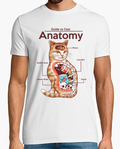 Camiseta anatomía de los gatos camisa para hombre