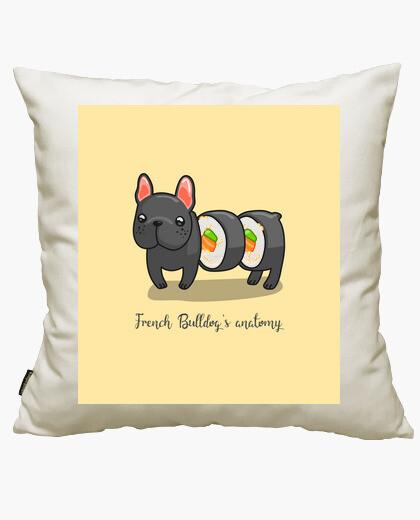Anatomy of a french bulldog cushion cover