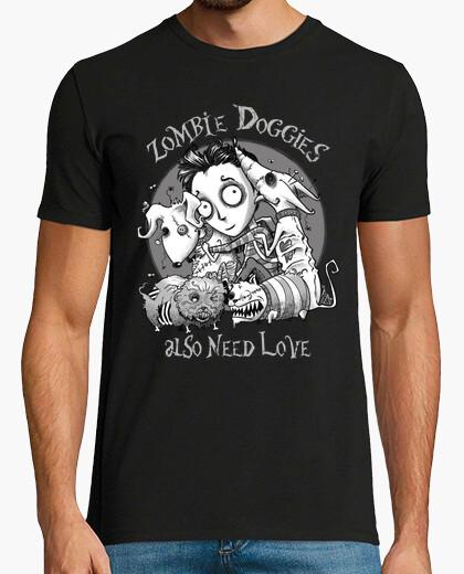 T-shirt anche cagnolini zombie hanno bisogno di amore