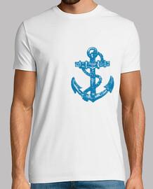 Anchor blue pattern