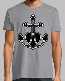 Anchor Cross Heart Tattoo