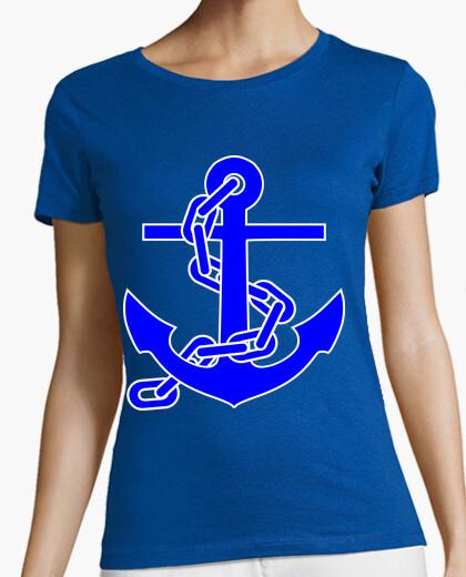 Camiseta Ancla azul