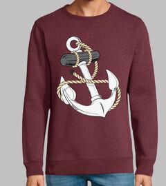 ancla naval con cuerda