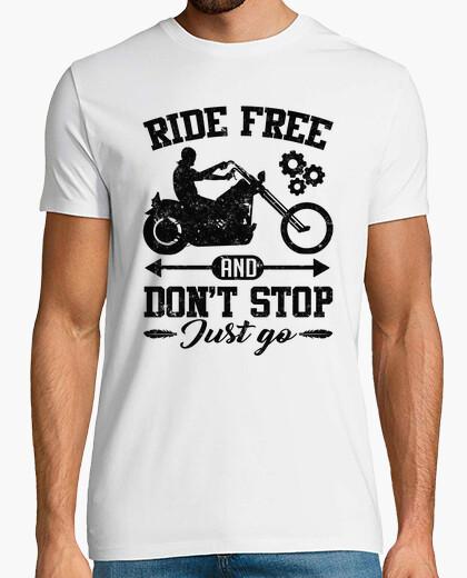 Camiseta andar libre y no dejar de ir