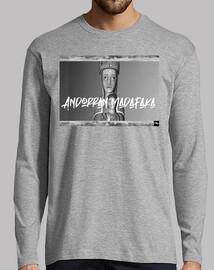 Andorra Madafaka - Hombre, manga larga, gris vigoré