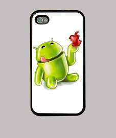Android comiendo porqueria 2 (iPhone 4)