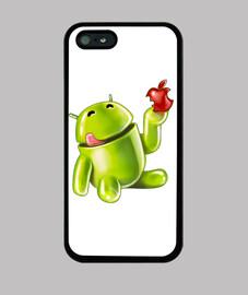 Android comiendo porqueria 2 (iPhone 5)