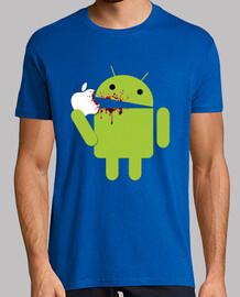 Android comiendo porquería (Azul)