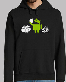 android eating apples