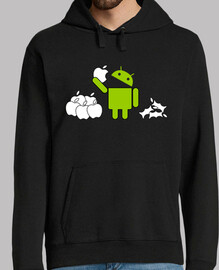 android eating apples 2
