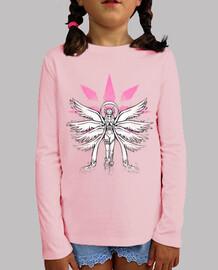 ángel de la pintada de la camisa de los niños de luz