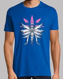 ángel de la pintada de la camisa para hombre ligero