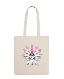 ángel de la pintada del bolso de mano ligera