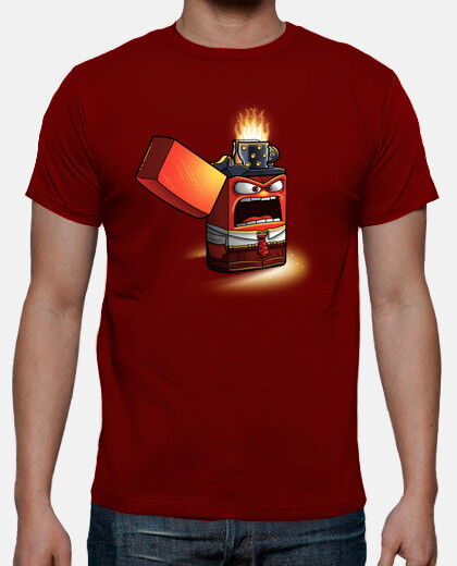 Angry lighter - camiseta hombre