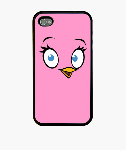 Coque iPhone angry oiseaux - oiseau rose