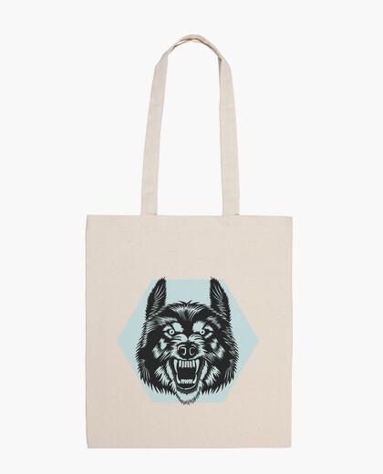 Bolsa Angry wolf