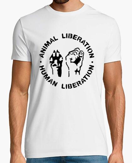 Tee-shirt Animal liberation  humain libération