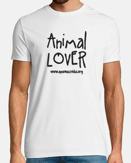 animal lover boy black letter