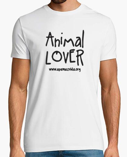 Animal lover boy black letter t-shirt