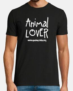 animal lover boy white letter