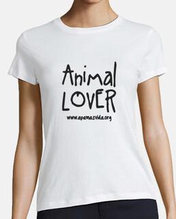 animal lover girl black letter