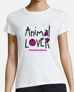 animal lover girl fuchsia