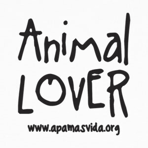 Camisetas ANIMAL LOVER LETRA NEGRA