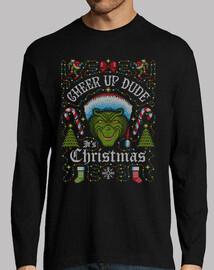 anímate tio its christmas grinch camiseta de manga larga