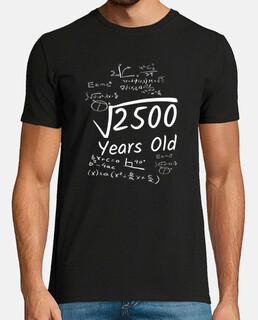 anniversaire 50 racine carrée de 2500