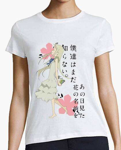 Tee-shirt anohana - meiko honma