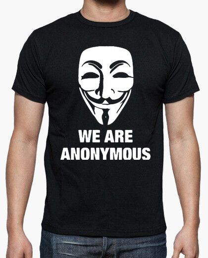 Camiseta Anonymous  friki geek