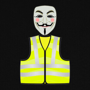 T-shirt Anonymous Chaleco Amarillo