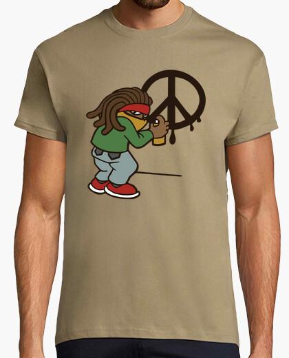 Camiseta años de paz amor rasta