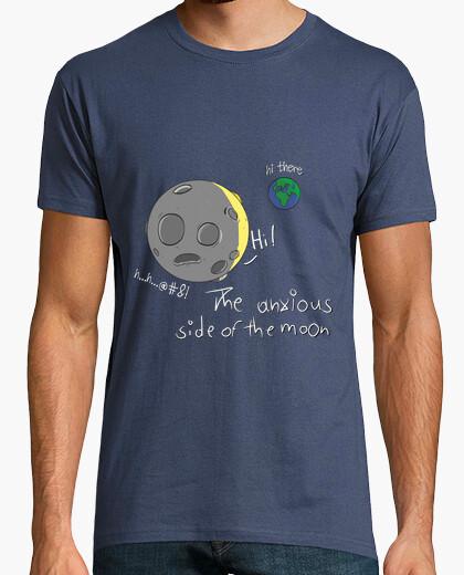 Camiseta ansiosos lado de la luna